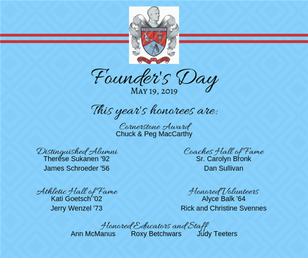Founders Day Honorees